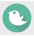 twitter bird social media web internet icon with vector image