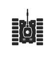 unusual tank black icon vector image