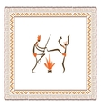 Ancient tribal people ethnic ornament frame for