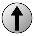 Arrow straight button vector image vector image