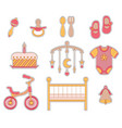 baby girl icon vector image vector image