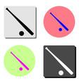 baseball flat icon vector image
