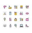 Beauty Colorful Outline Icon Set vector image