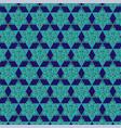 blue gold jewish star pattern vector image vector image