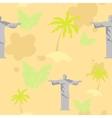 Brazil symbols pattern vector image
