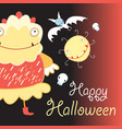 bright background funny monsters vector image vector image