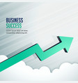 business success growth arrow moving fastly vector image vector image