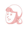 cartoon woman face character smiling vector image vector image