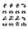 Charity icons set vector image vector image