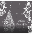 Classic royal silver ornamented card vector image vector image