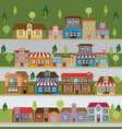 colorful natural landscape with set of scenes in vector image vector image
