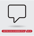 comment icon in modern style for web site and vector image vector image