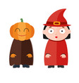 cute kids wearing halloween vector image vector image