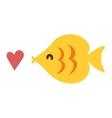 Decorative fish icon vector image