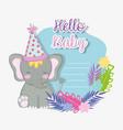elephant celebration happy baby shower vector image
