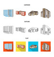 facade and housing icon vector image vector image