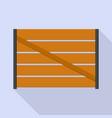 farm wood fence icon flat style vector image