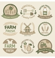 Farming harvesting and agriculture labels vector image vector image
