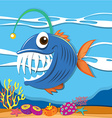 Fish swimming under the sea vector image vector image