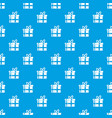 gift in a box pattern seamless blue vector image vector image