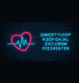 glowing neon medicine concept sign with vector image vector image