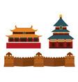 great wall of china beijing asia landmark brick vector image vector image