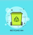 green recycle bin or garbage container concept of vector image