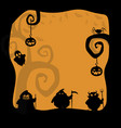 halloween background with spooky characters and vector image vector image