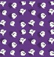 halloween card with ghost pattern background vector image