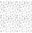 Hand drawn hike seamless pattern Doodle camping vector image vector image