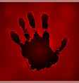 hand paint print 3d isolated red background vector image
