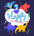 happy birthday - flat design style vector image