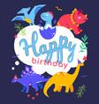 happy birthday - flat design style vector image vector image