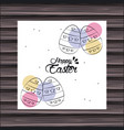 happy easter day card vector image vector image