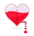 heart shapped tap dripping small love vector image vector image