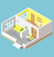 house interior furniture indoor moving vector image vector image