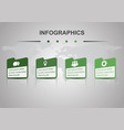 infographic design template with perspective vector image vector image