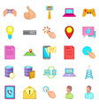 it expert icons set cartoon style vector image vector image