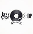 jazz vinyl record retro background 2 vector image vector image