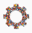 large group people in form gear vector image vector image