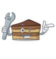mechanic tiramisu mascot cartoon style vector image vector image