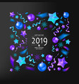 merry christmas and new year 2019 vector image vector image