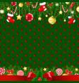 merry xmas card with border vector image