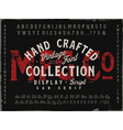 mfg co hand drawn vintage font collection vector image vector image