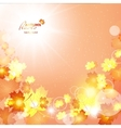 Natural of beautiful autumn vector image vector image