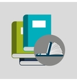 online learning books education vector image vector image