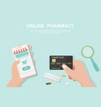 online pharmacy concept in flat style vector image