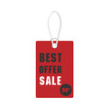 price tag best offer sale 50 off image vector image