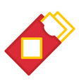 red envelope linecolor vector image