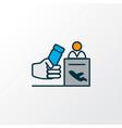 registration board icon colored line symbol vector image vector image